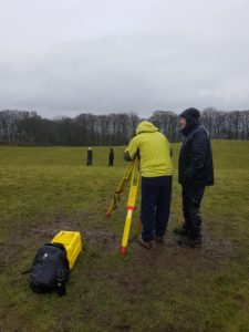 Picture of volunteers surveying